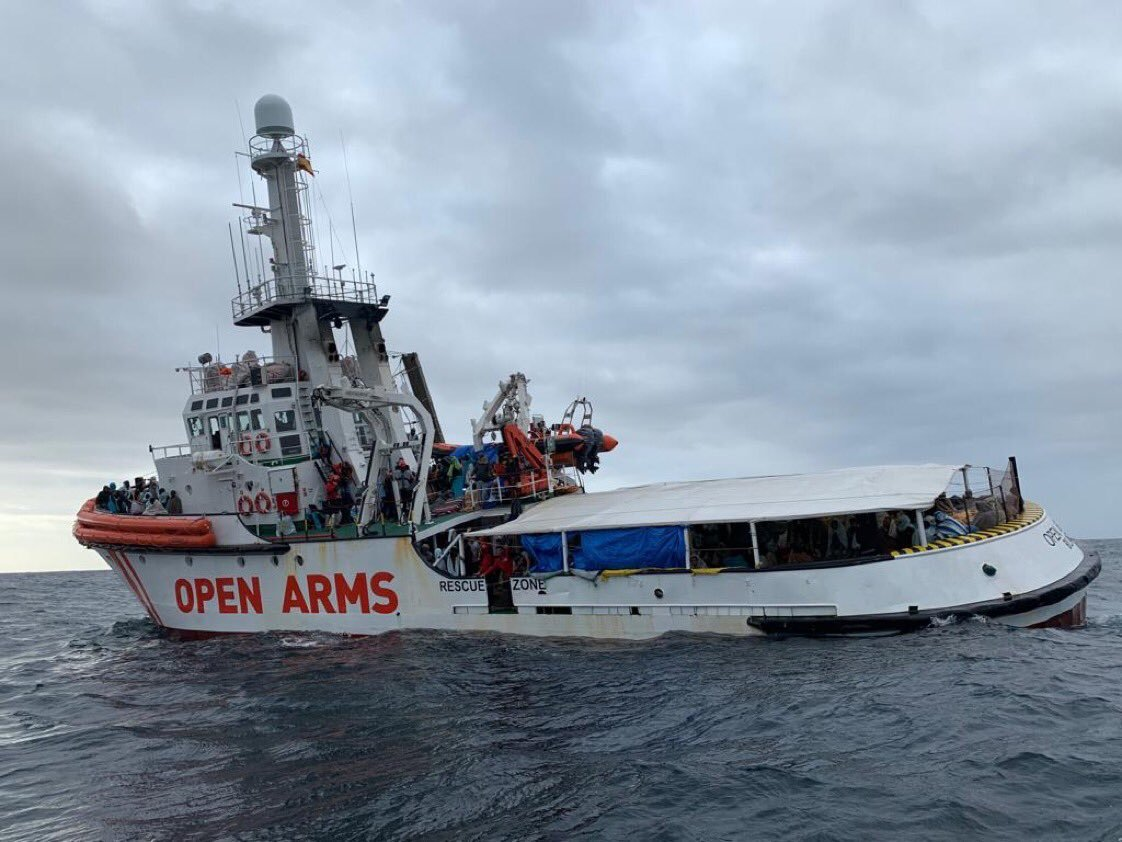 對移民張開手臂 人道救援船將抵西班牙