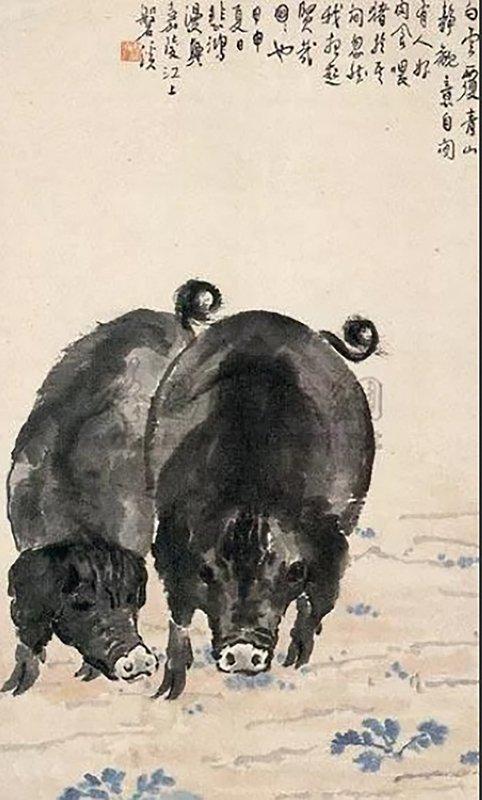 中國最貴的豬 出自徐悲鴻之手