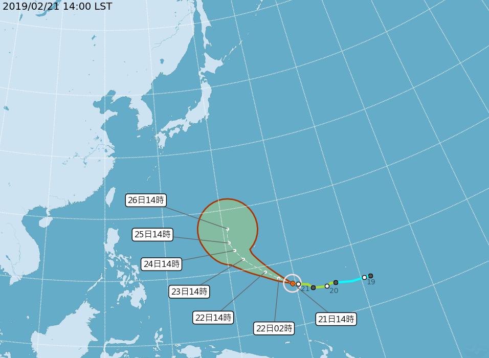 蝴蝶颱風增為中颱 影響台灣機率低