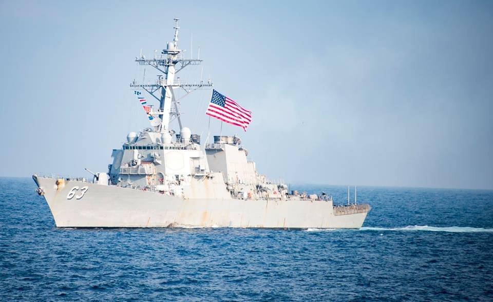 美2艘作戰艦 28日航經台海