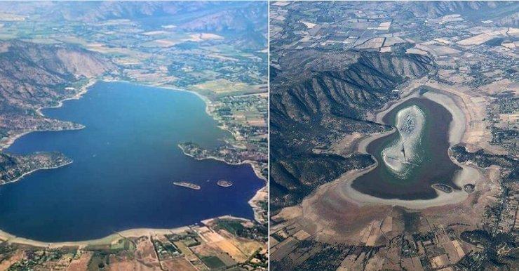 乾旱嚴重 智利休閒名湖從地圖上消失