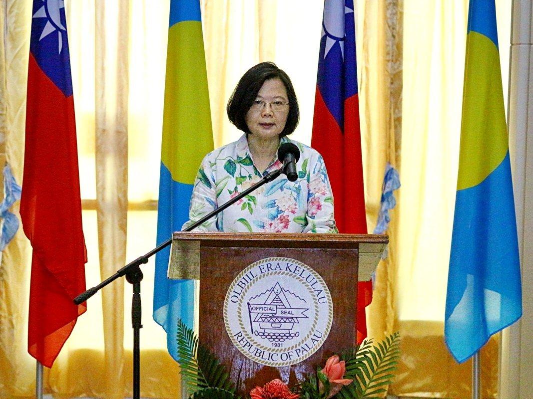 帛琉國會友台決議 蔡總統:願與帛琉攜手打拚