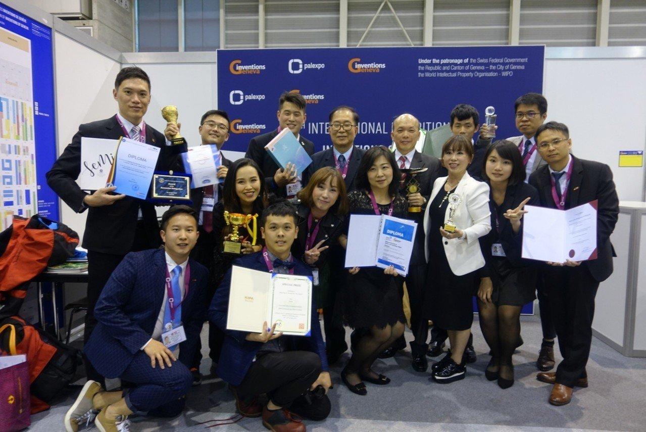 日內瓦發明展 台灣團隊獲18金6特別獎