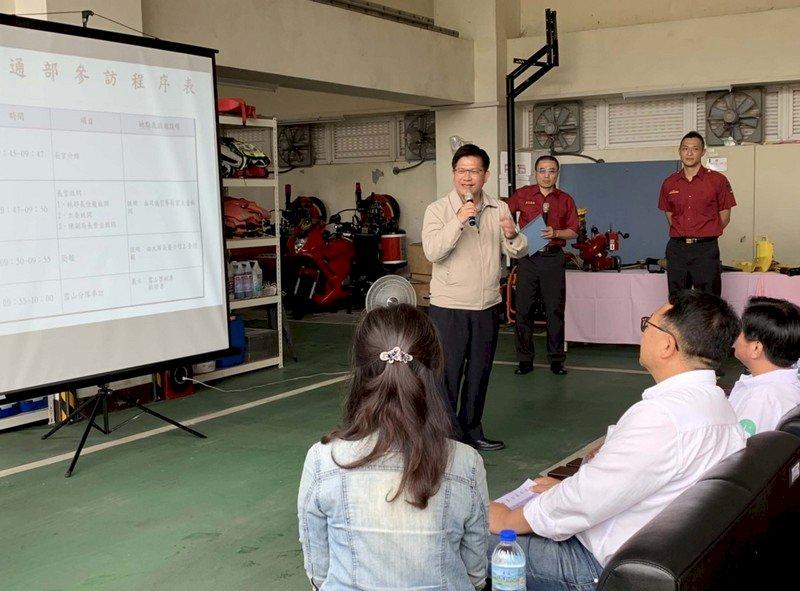 交長視察國五雪隧 宣布1.66億消防補助