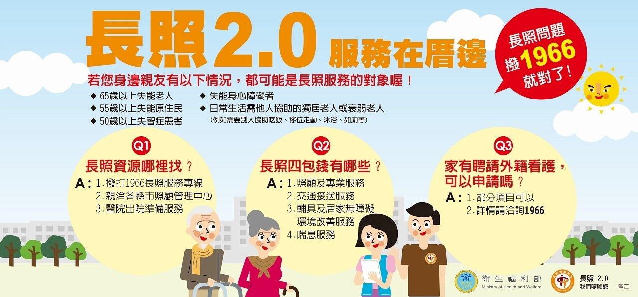 長照2.0服務涵蓋率近55% 近9成住宿型長照者獲補助