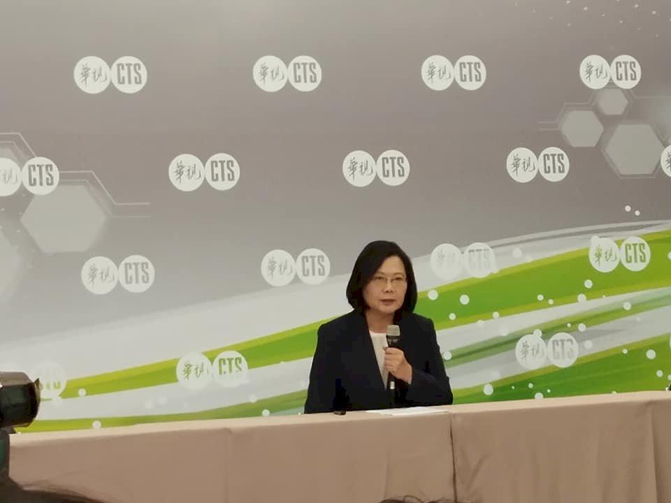 蔡總統:賴清德的未來式是就是蔡英文的現在進行式