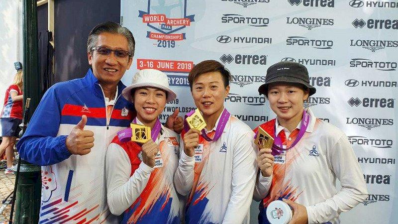 台灣女箭客寫歷史 世錦賽摘反曲弓隊史首金