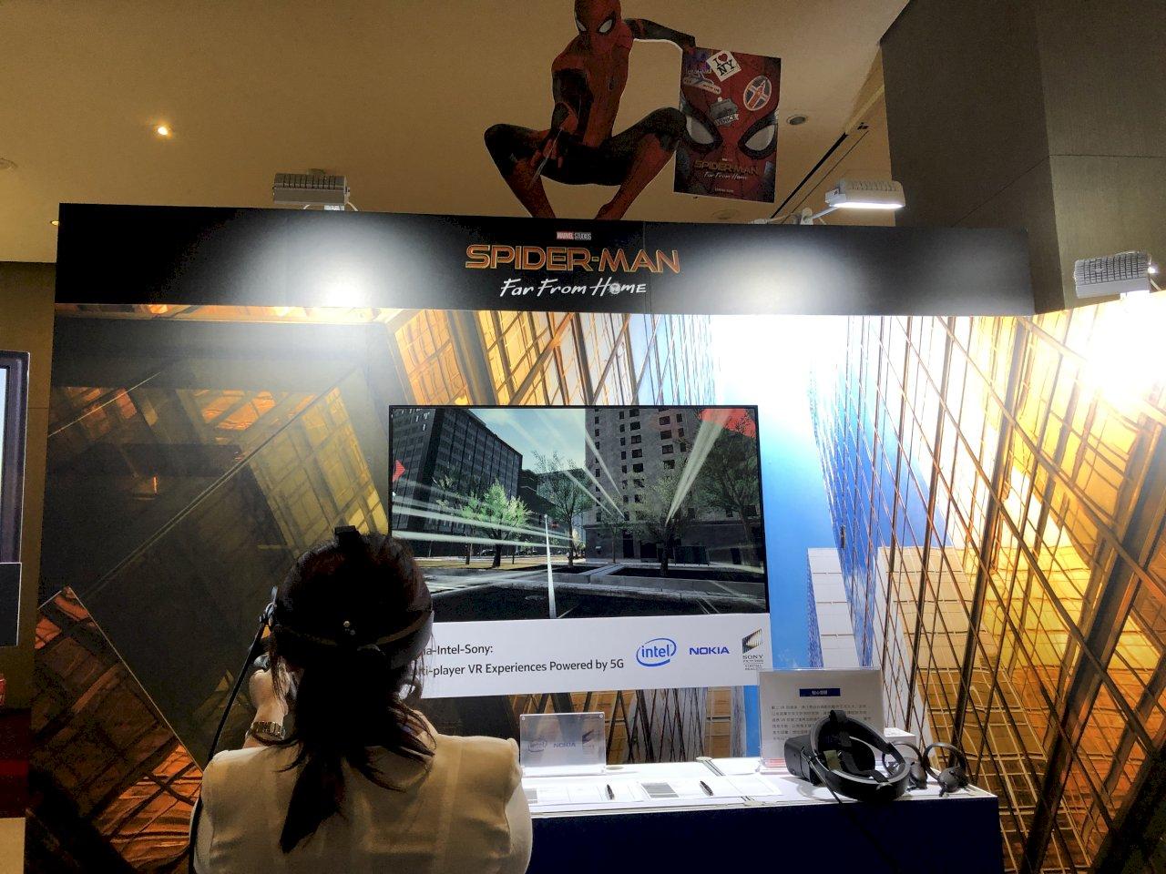 蜘蛛人遊戲不卡卡 諾基亞呈現5G環境下的VR體驗
