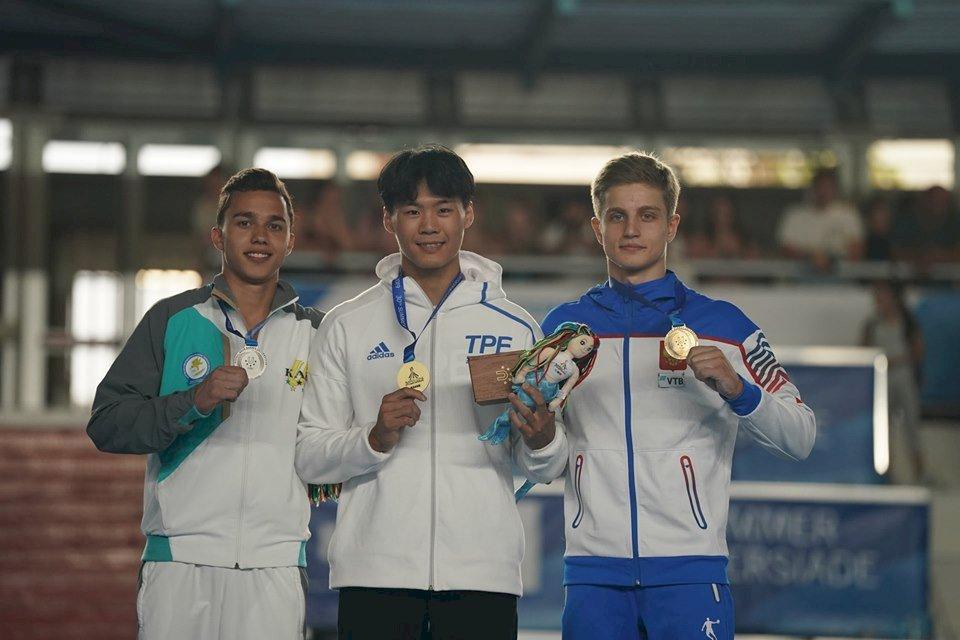 世大運體操男子單槓 唐嘉鴻勇奪金牌