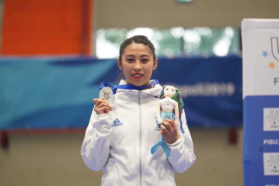 世大運跆拳道品勢 蘇佳恩女子個人賽奪銀
