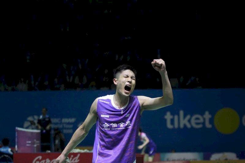 周天成擊敗亞運金牌 挺進印尼公開賽四強