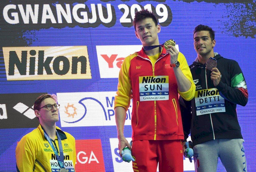中國泳將孫楊禁賽8年 曾嗆對手輸家反成落水狗