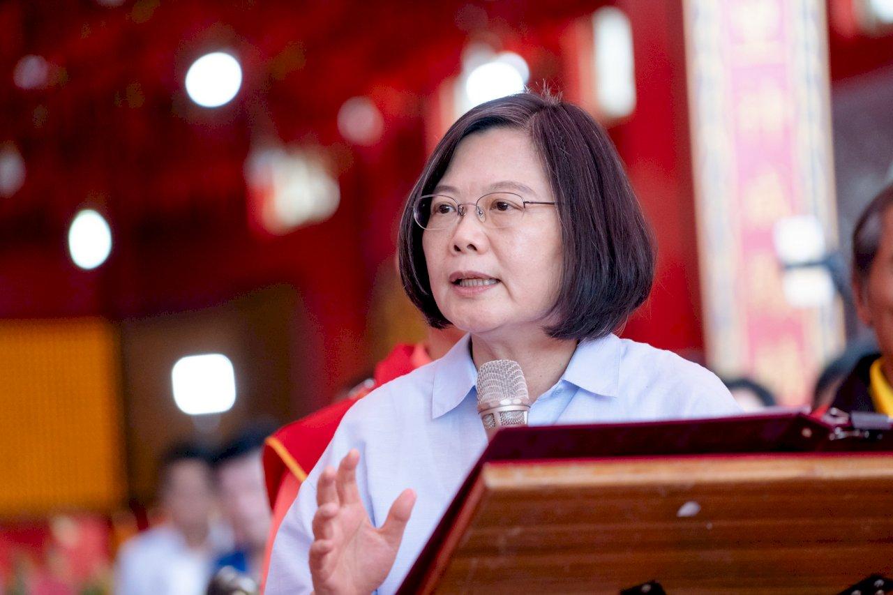 以香港為例 蔡總統:沒主權就沒民主自由