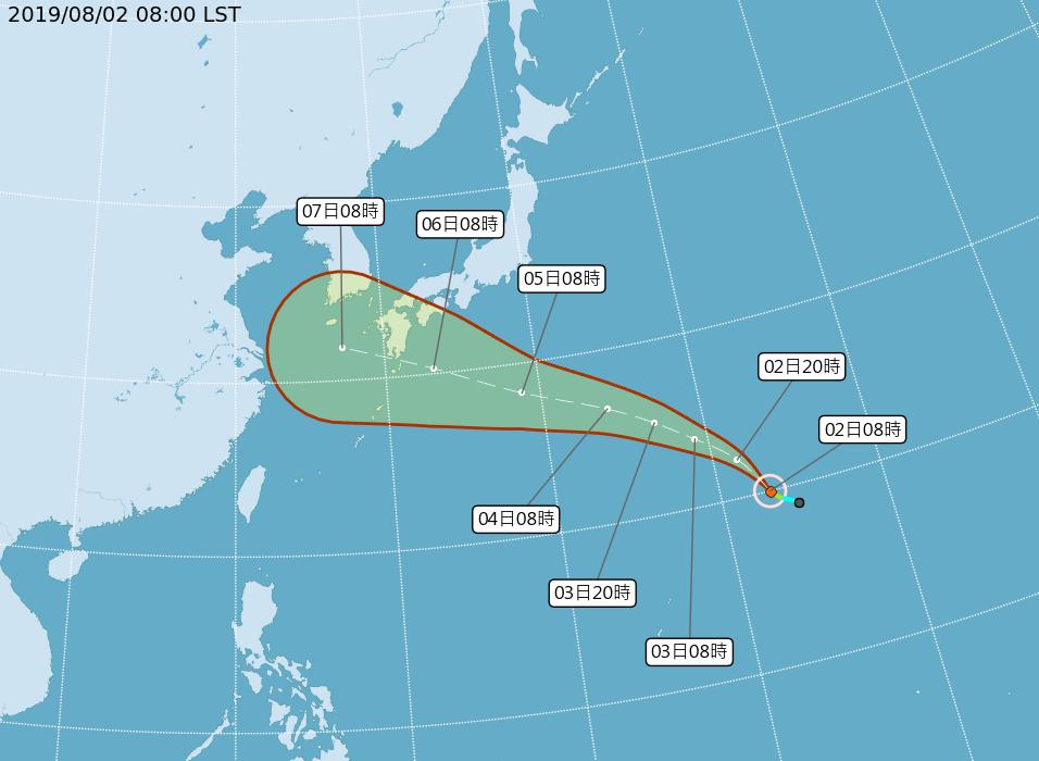 颱風范斯高生成 朝日本前進對台無影響