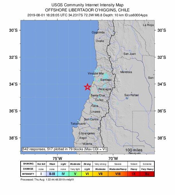 智利外海6.8強震 未有海嘯風險