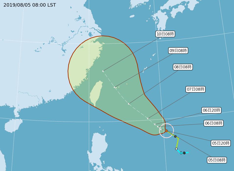 颱風利奇馬逼近 預期從東北部近海北上