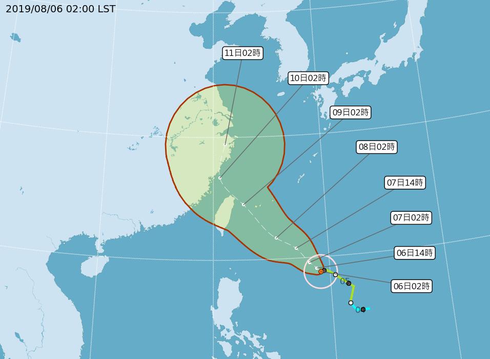 利奇馬將轉中颱 估7日上午海警晚上陸警