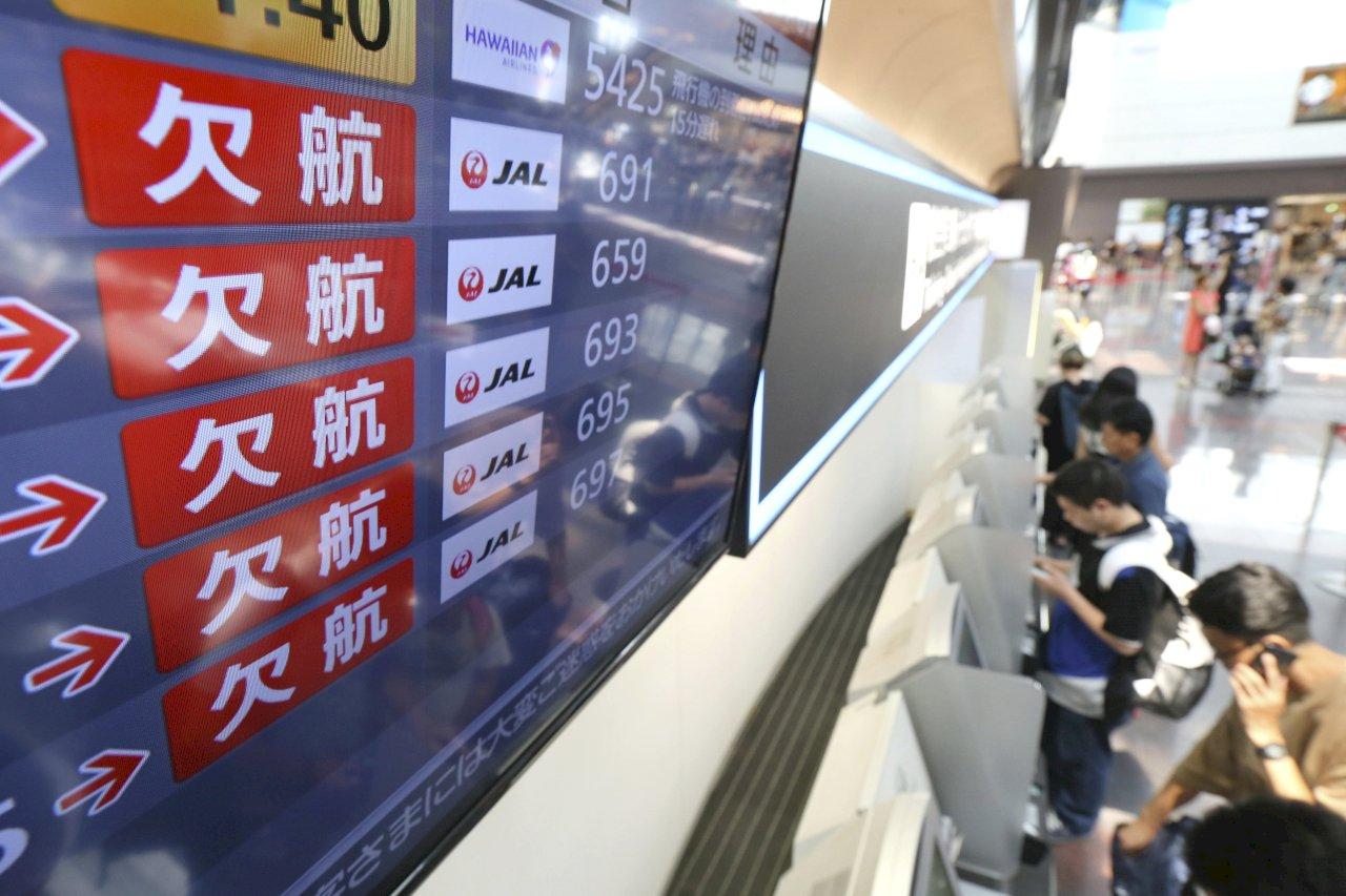 柯羅莎颱風襲日 超過600航班取消新幹線減班停駛