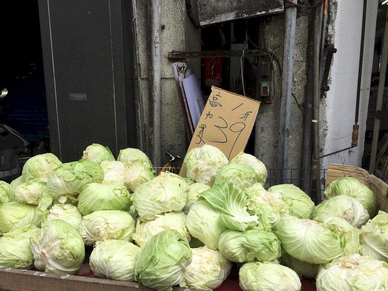 颱風襲台菜價續漲? 農委會:目前仍屬短期現象