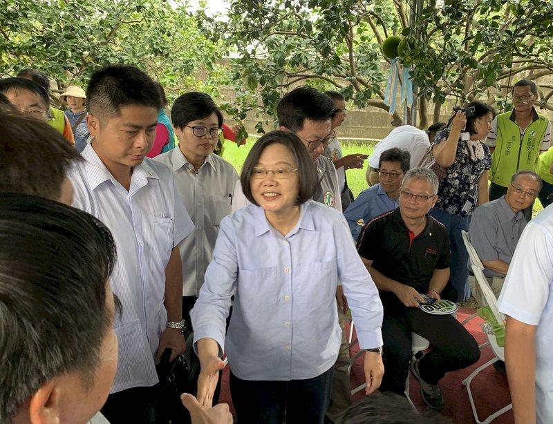 蔡總統:香港情勢是否惡化在於領導人一念之間