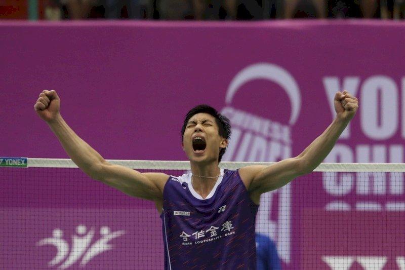 苦戰3局 周天成台北羽賽驚險晉級4強