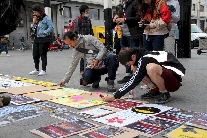 布魯塞爾港人集會 籲國際關注人權危機