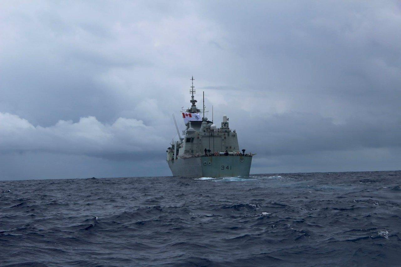 加拿大軍艦通過台海 國防部:全程掌握