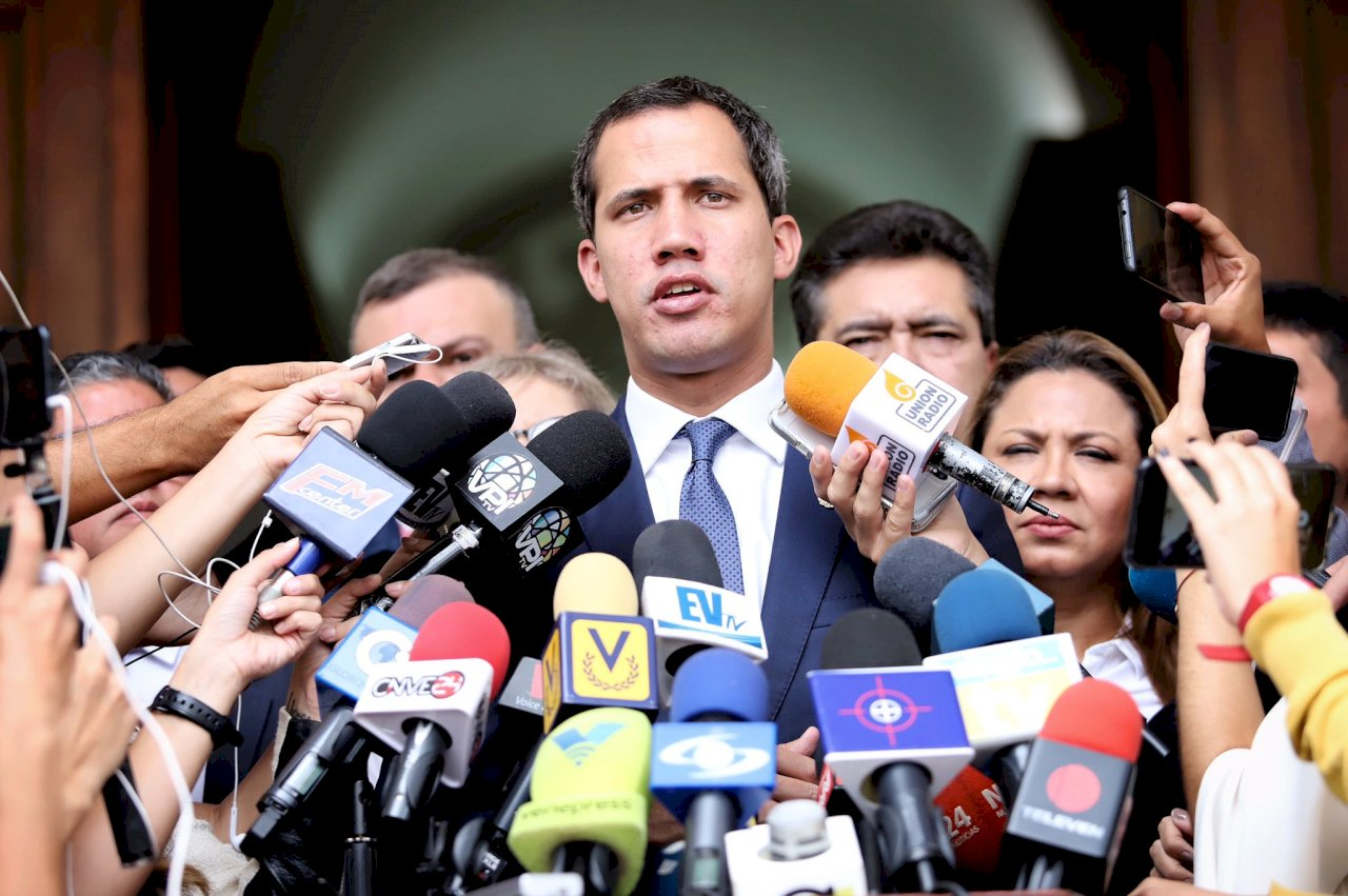 拜登重申 支持委內瑞拉反對派領袖瓜伊多