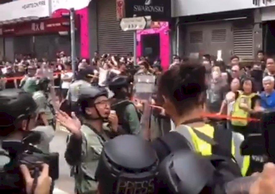 香港反送中網友發起遊行 警方銅鑼灣戒備