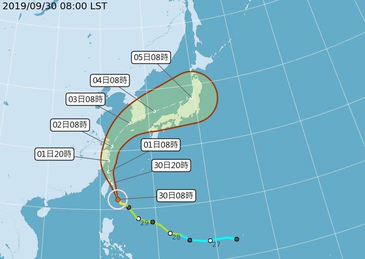 中颱米塔發威 豪雨強度提升 宜蘭將有超大豪雨