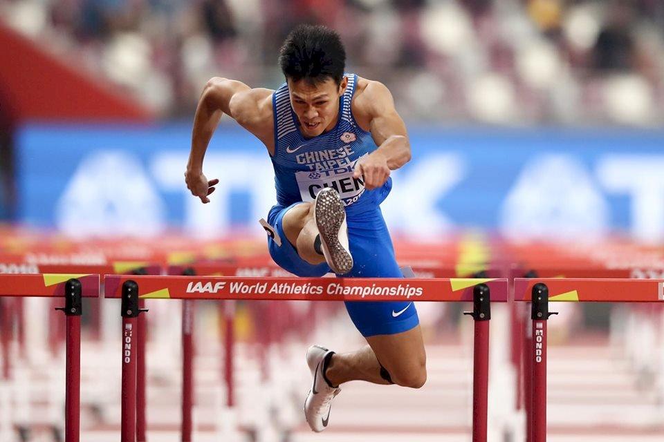 田徑世錦賽 陳奎儒110公尺跨欄無緣決賽
