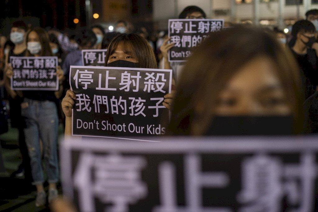 香港反送中多區示威 聲援中槍學生