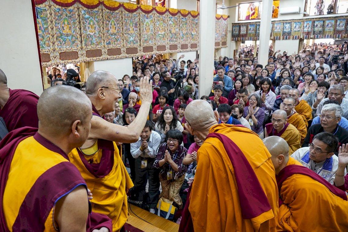 達賴喇嘛開示台灣佛信徒 保持慈悲心