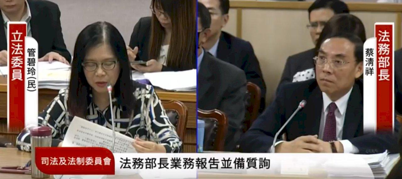 蔡清祥:檢察總長將召集檢警調 偵辦涉組織犯罪政黨