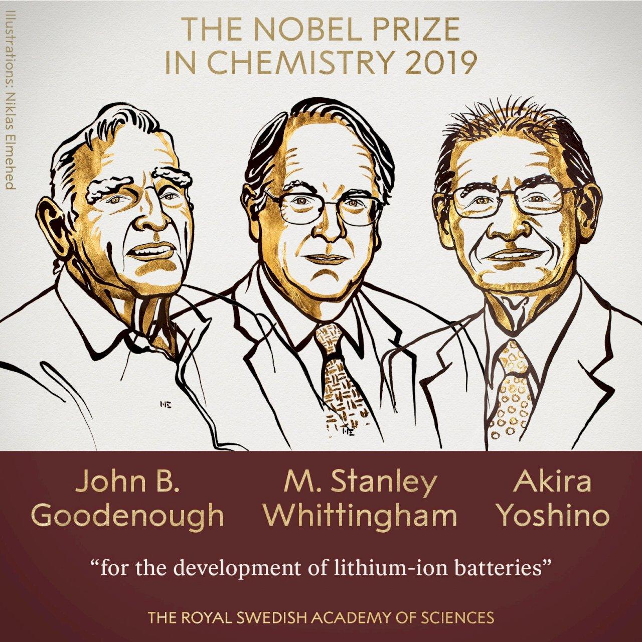 2019諾貝爾化學獎:美英日3國科學家共享