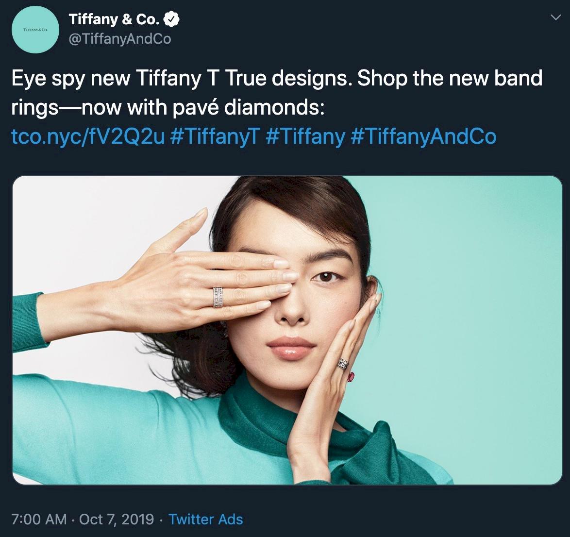 不敵中國網民怒轟 Tiffany遮眼廣告照急下架