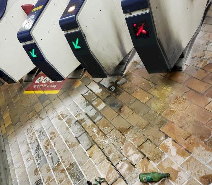 港鐵九龍塘站遭擲汽油彈 無人受傷
