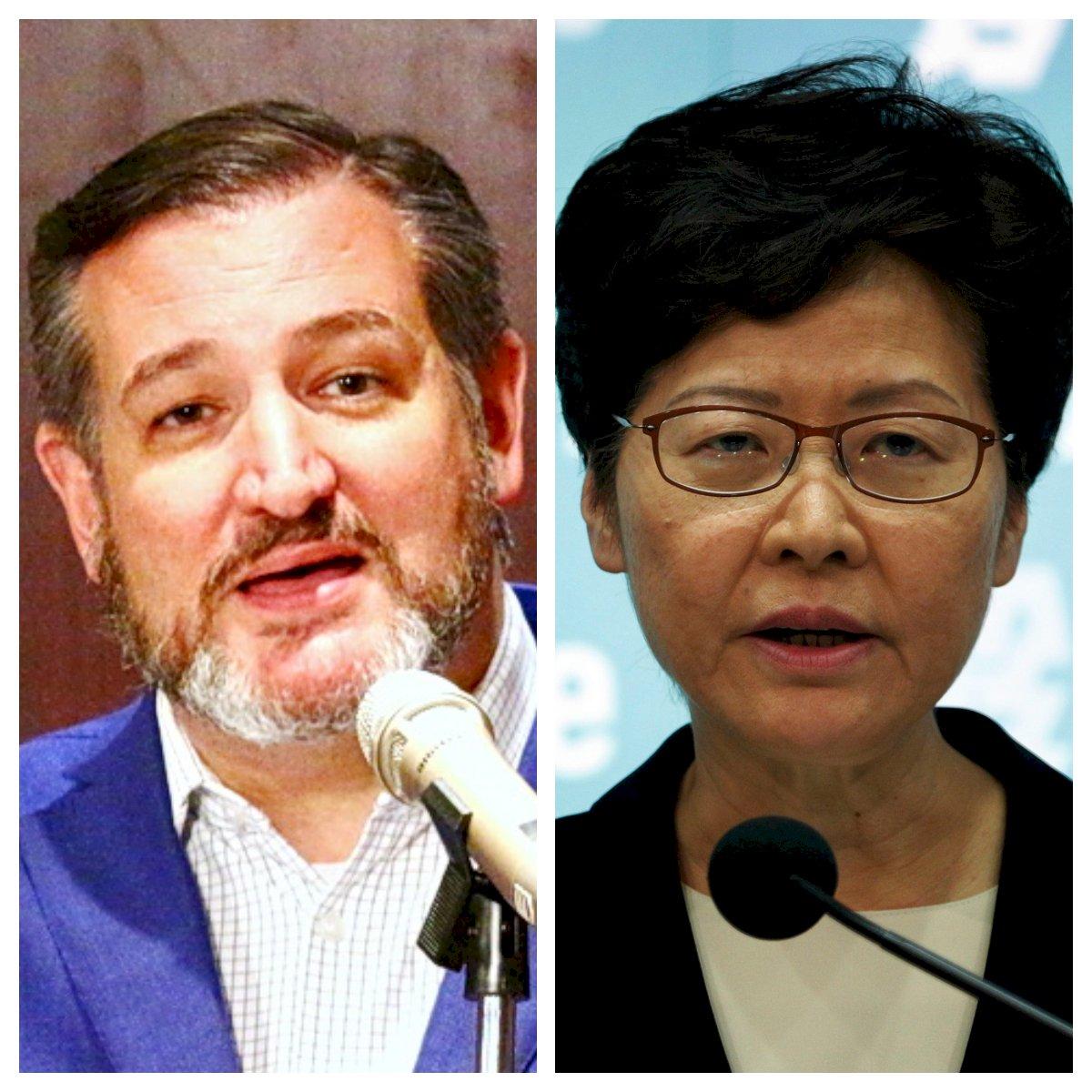 美參議員克魯茲:與林鄭月娥會晤遭取消