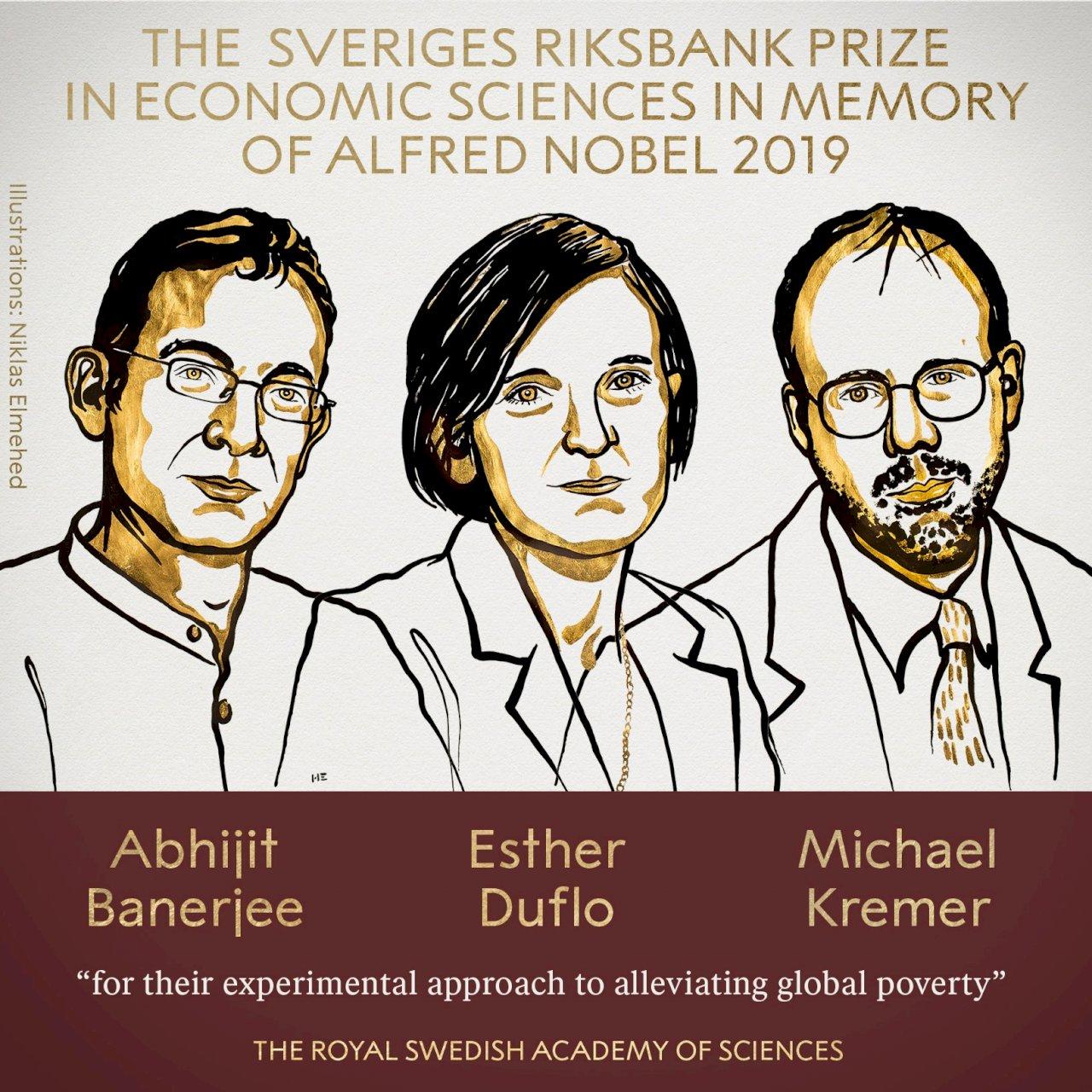 2019諾貝爾經濟學獎:美法三位學者共享殊榮