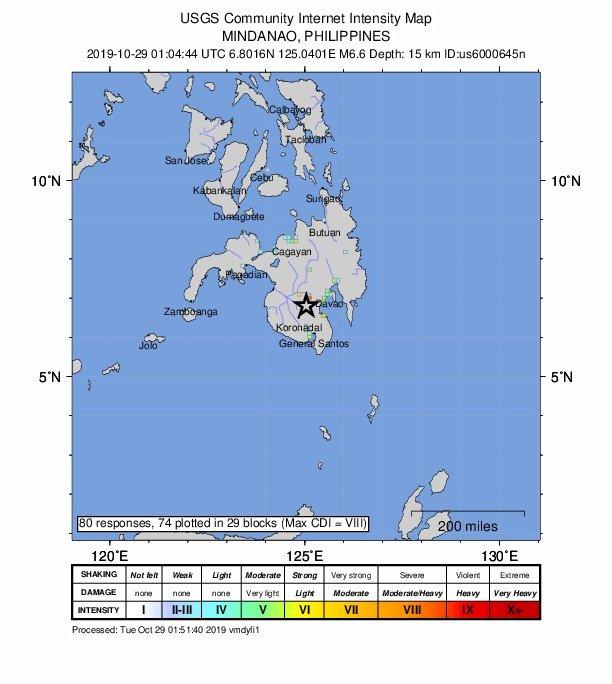 菲律賓南部地震 規模6.7