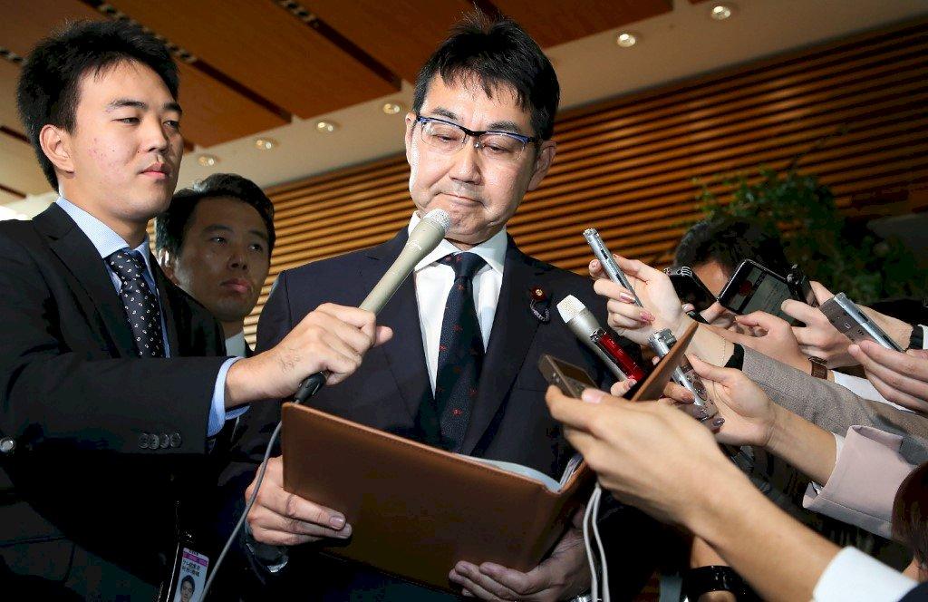 日本法務大臣遞辭呈 安倍內閣一週走2人