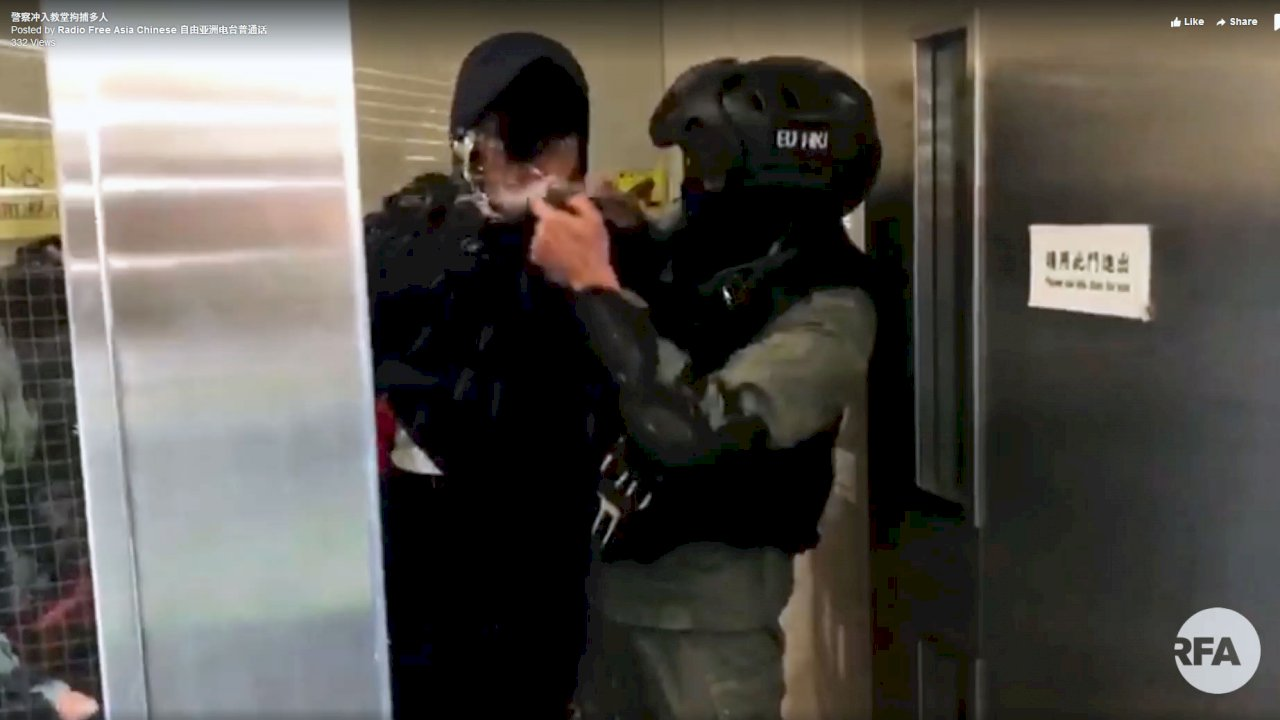 「神啊!請救救香港」教友大哭 港警首次衝入教堂拘捕多人