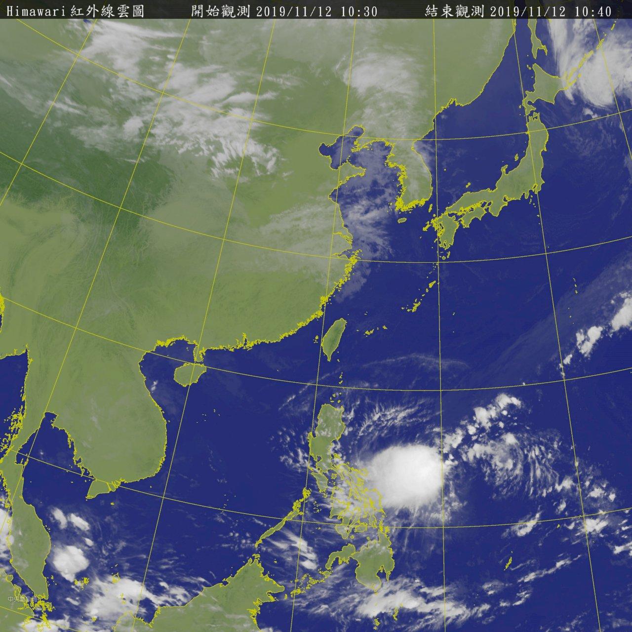 海面上2熱帶低氣壓 有機會發展為颱風