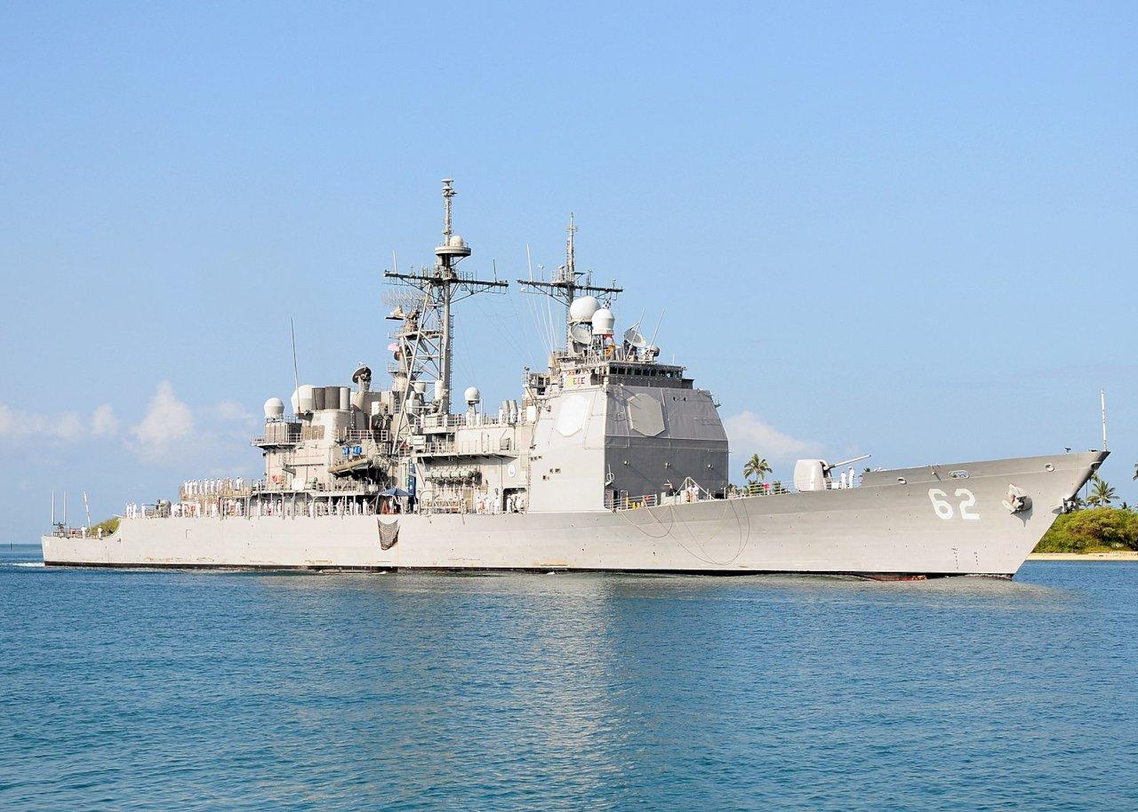 維護印太自由 美軍艦昌塞勒斯維號通過台灣海峽