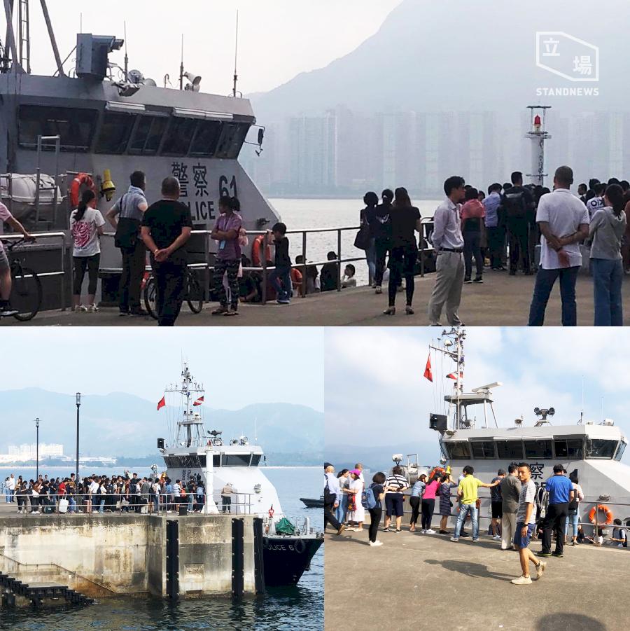 香港局勢緊張  水警疑協助中大大陸學生撤離