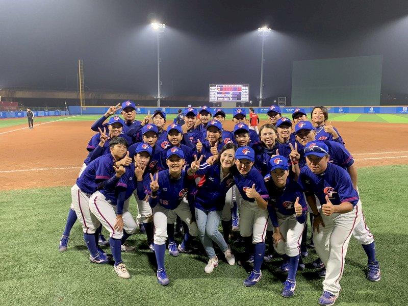 2019第2屆亞洲女子棒球錦標賽在中國中山舉行,中華隊(圖)15日在決賽中以1比2不敵日本,連兩屆拿下亞軍。(棒協提供)