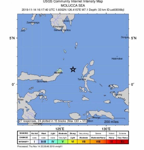 印尼7.1強震 居民驚惶逃往高地