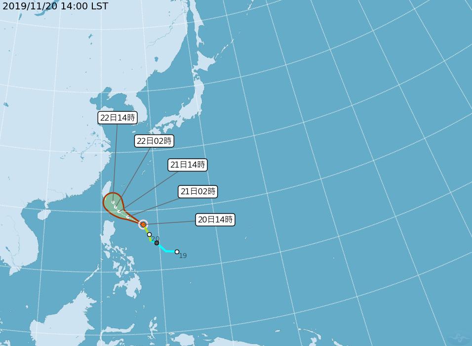 鳳凰颱風路經往東修正 最快明早發海警