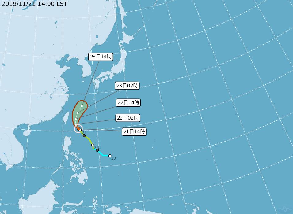 颱風鳳凰路徑續偏東 海警機率低