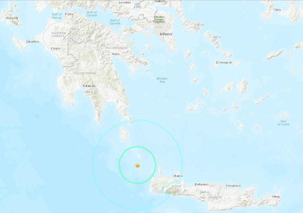 希臘克里特島6.1強震 目前未傳重大災情